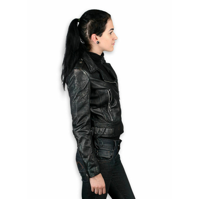 Giacca da donna (chiodo) - WONDER WOMAN - LAMEV MET / BLK - M0010772 - DANNEGGIATA