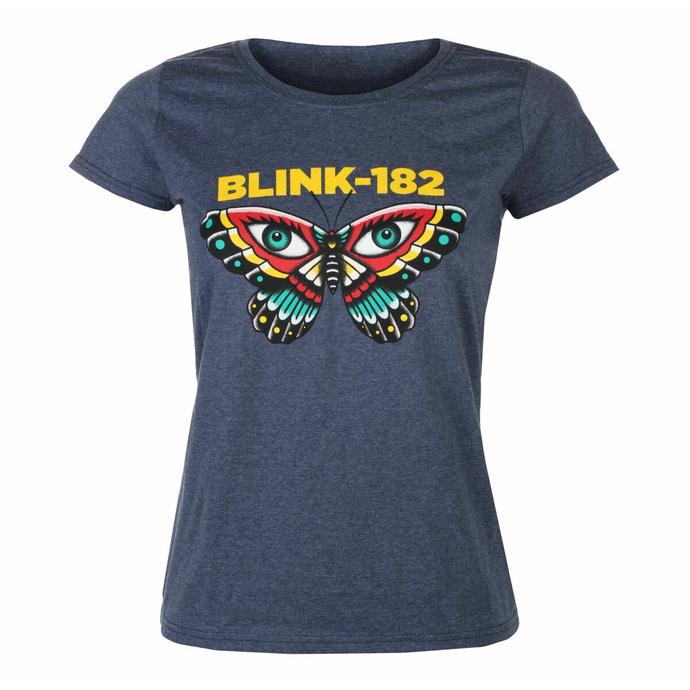 Maglietta da donna Blink 182 - Butterfly - Heather Navy