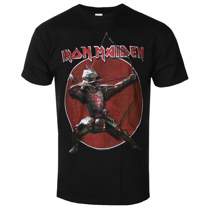 Maglietta da uomo Iron Maiden - Eddie Archer Red Cricle BL - ROCK OFF