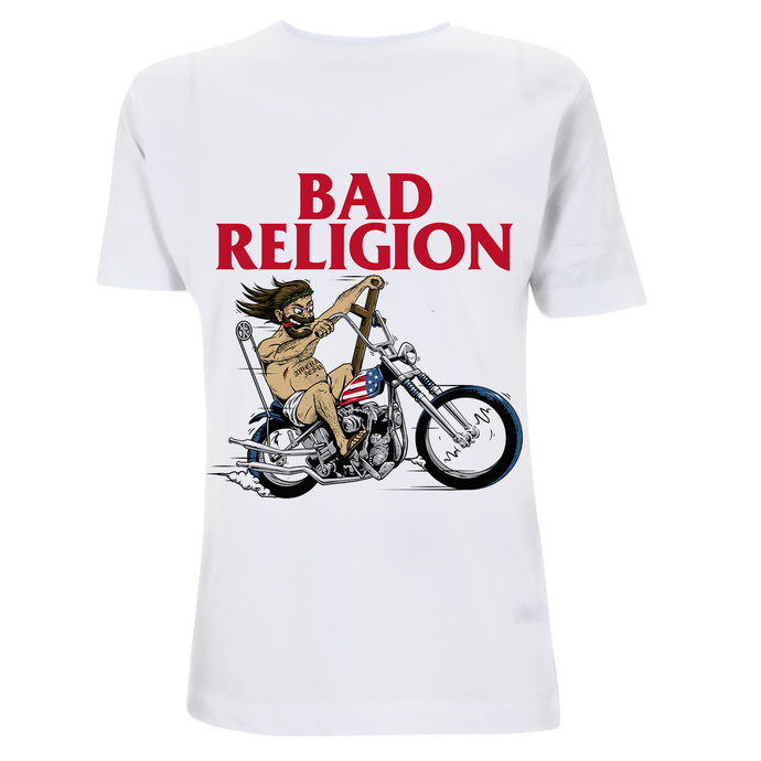 Maglietta da uomo Bad Religion - American Jesus - White Heavy