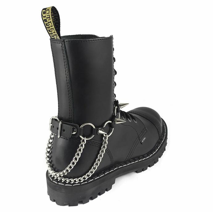 Collare / Decorazione per scarpe con doppia catena e borchie
