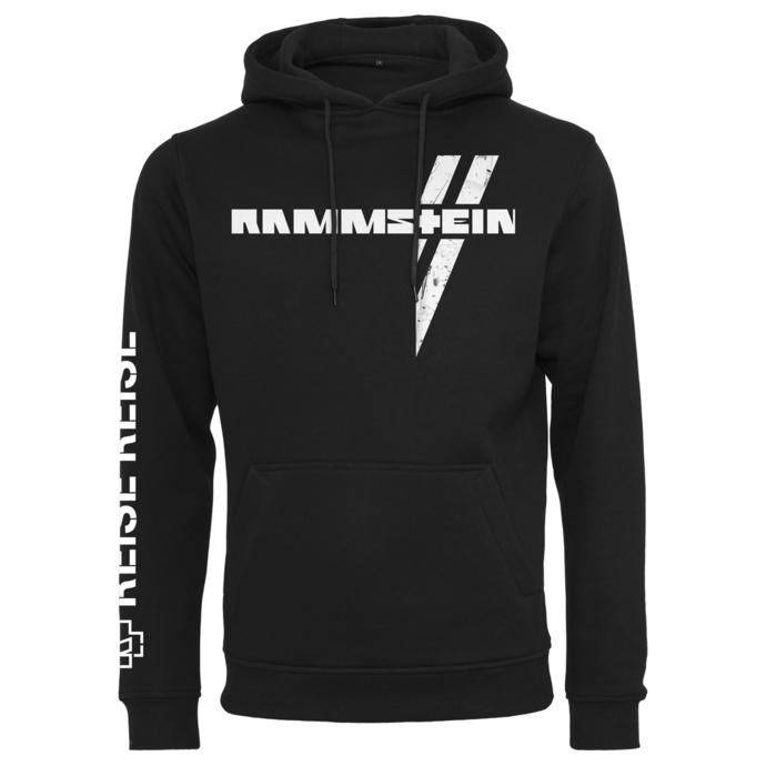 Felpa da uomo con cappuccio Rammstein - Weißes Kreuz - nero