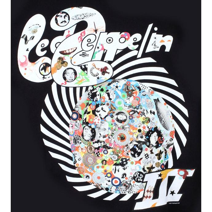 Felpa con cappuccio da uomo Led Zeppelin - Swirl III - Nero