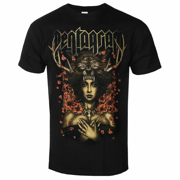 Maglietta da uomo Pentagram - Priestess - Nero - INDIEMERCH