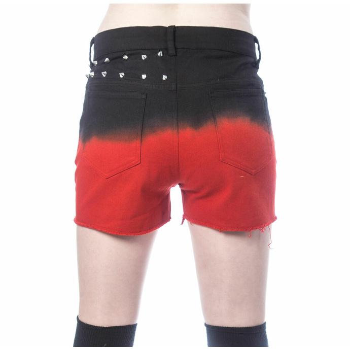Pantaloncini da donna VIXXSIN - GAIA - NERO/ROSSO