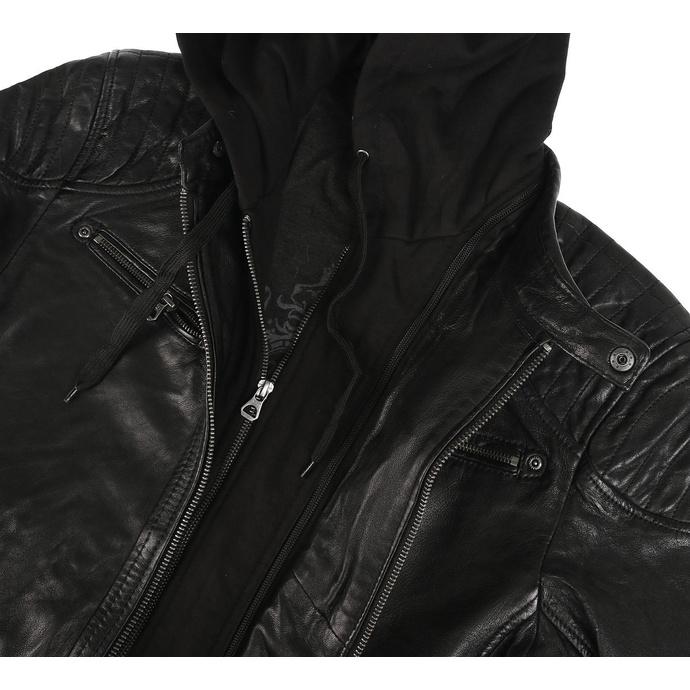 Giacca da uomo (modello motocilista) GBGorey 2 LASANV - Black