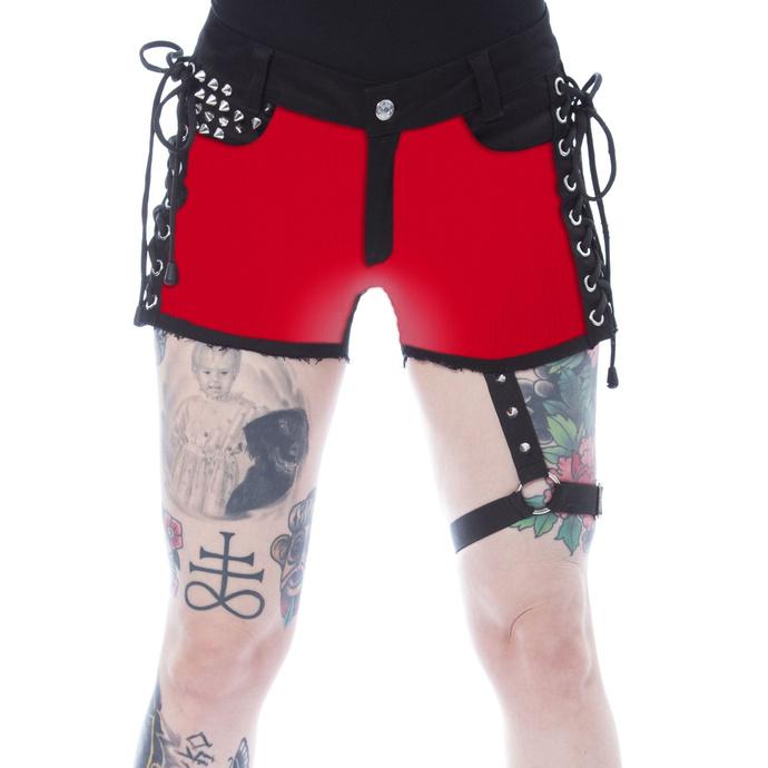 Pantaloncini da donna HEARTLESS - MICHAELA - NERO/ROSSO