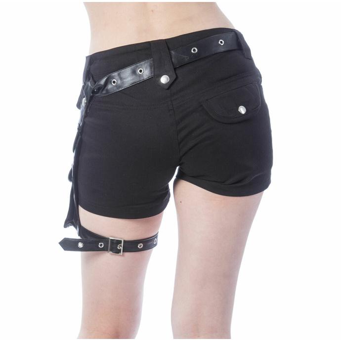 Pantaloncini da donna POIZEN INDUSTRIES - MUSETTE - NERO