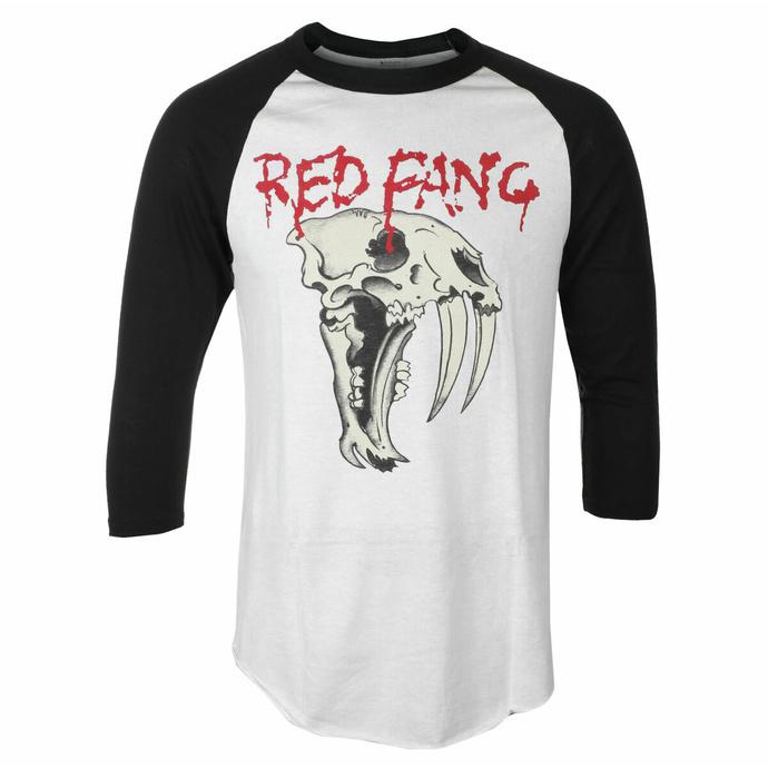 Maglietta da uomo con maniche a ¾ Red Fang - Fang - bianca - INDIEMERCH