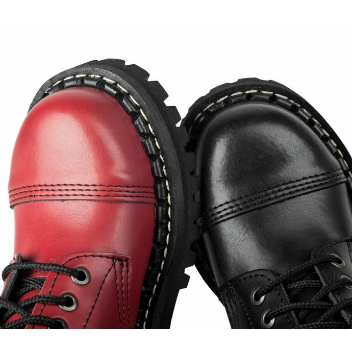 stivali STEADY´S - 10 occhielli - Nero rosso