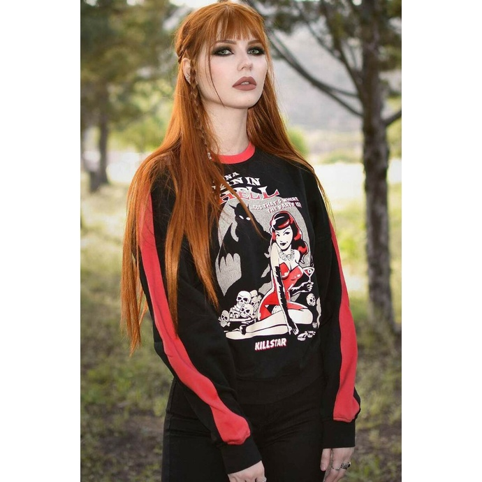 Felpa da donna KILLSTAR - She Devil Sweater - Nero