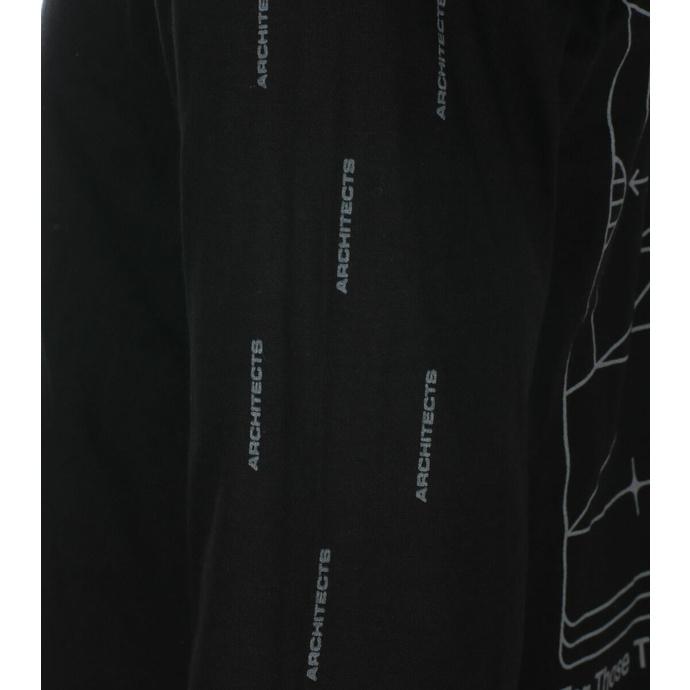Maglietta da uomo a maniche lunghe Architects - FTTWTE Grid- Nero - KINGS ROAD
