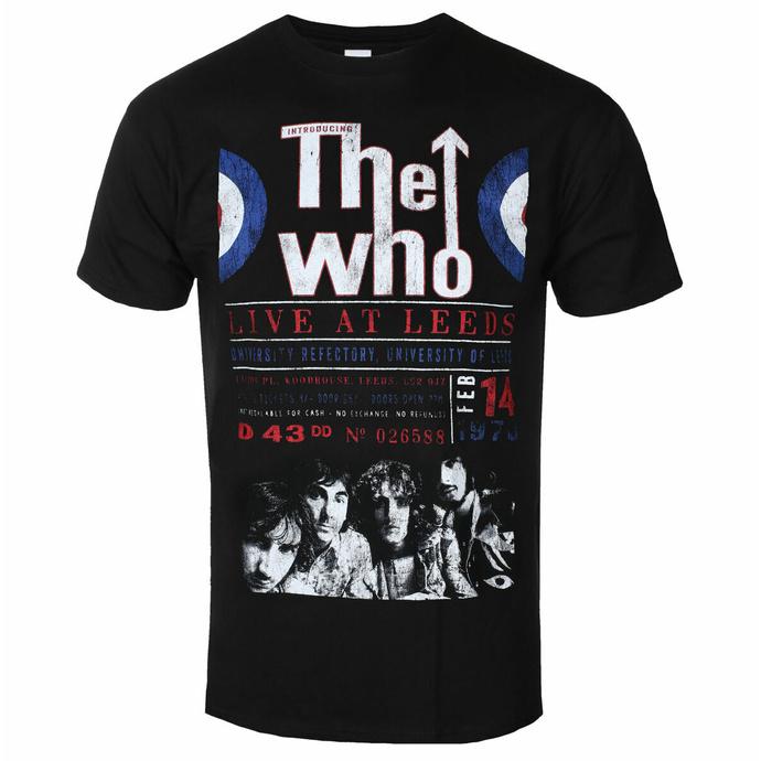 Maglietta da uomo Who - Live Leeds '70 - ROCK OFF