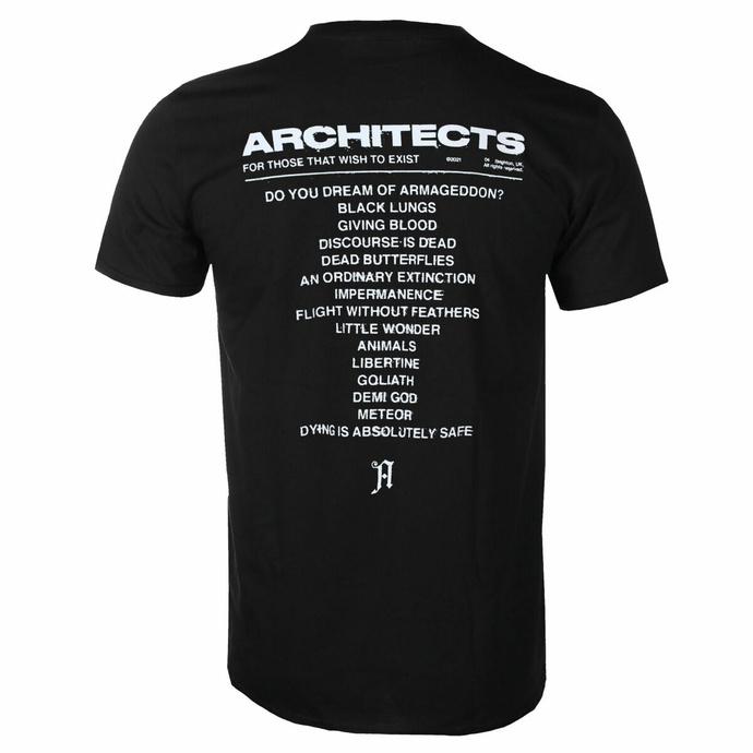 Maglietta da uomo Architects - FTTWTE Copertina - Nero - KINGS ROAD