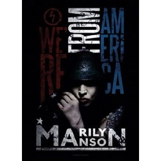 Bandiera Marilyn Manson - American Graffiti, HEART ROCK, Marilyn Manson