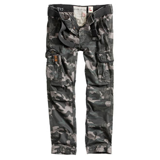 pantaloni SURPLUS - PREMIUM SLIMMY - NERO CAMO, SURPLUS