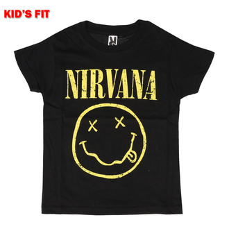 Maglietta da bambini Nirvana - Yellow Smiley - ROCK OFF, ROCK OFF, Nirvana