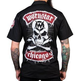 camicia WORNSTAR - Chicago Skull - Nero, WORNSTAR