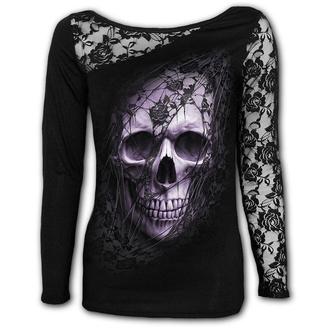 t-shirt donna - LACE SKULL - SPIRAL, SPIRAL