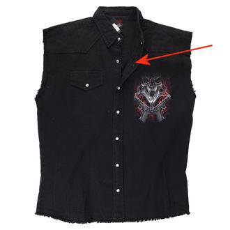 camicia da uomo senza maniche SPIRAL - Street Reaper - Nero - DANNEGGIATO, SPIRAL