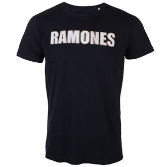t-shirt metal uomo Ramones - Logo & Seal Applique Slub - ROCK OFF, ROCK OFF, Ramones