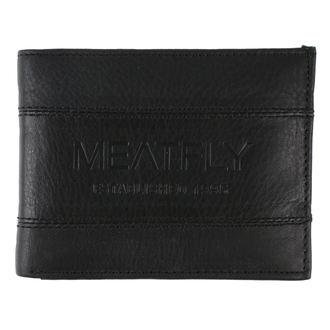 Portafoglio MEATFLY - Hurricane Leather - Nero Pelle, MEATFLY