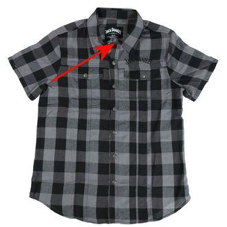 camicia uomini Jack Daniels - Checks - Nero / Grigio - DANNEGGIATO, JACK DANIELS