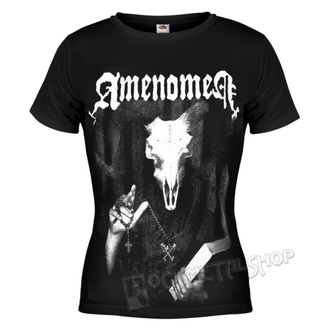 t-shirt hardcore donna - DEVIL'S BIBLE - AMENOMEN, AMENOMEN