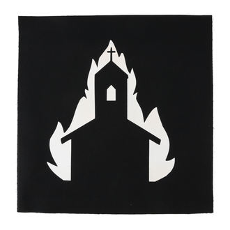 Grande toppa Chiesa in fiamme
