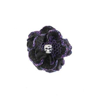 Fermacapelli Cranio - Nero / viola