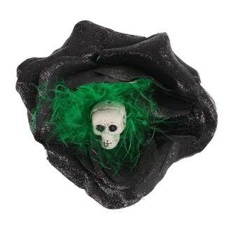 Fermacapelli Cranio - Nero / verde piume