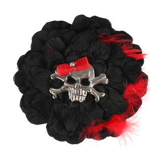 Fermacapelli Cranio - Nero / Rosso Arco
