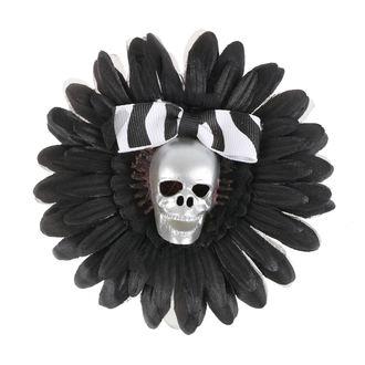 Fermacapelli Cranio - Nero / Argento