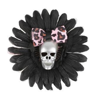 Fermacapelli Cranio - Nero / Rosa Arco