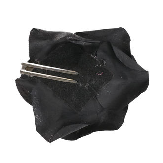 Fermacapelli Cranio - Nero / viola piume