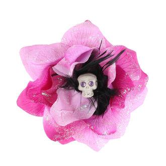 Fermacapelli Cranio - Rosa / Nero