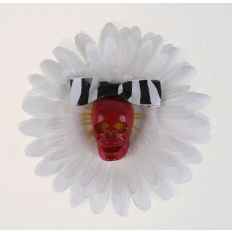 Fermacapelli Cranio - bianca / Rosso