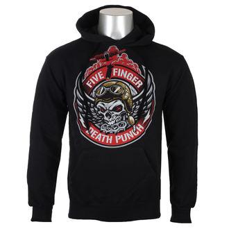 felpa con capuccio uomo Five Finger Death Punch - Black - ROCK OFF, ROCK OFF, Five Finger Death Punch
