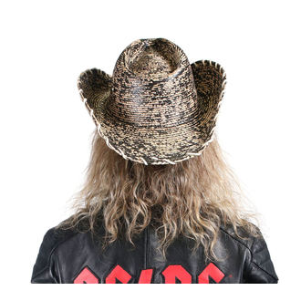 Cappello WORNSTAR - Hellrider HS Black & Natural Rocker Cowboy, WORNSTAR