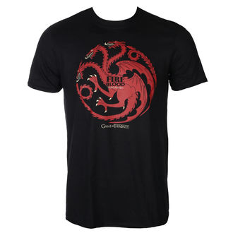 t-shirt film uomo Hra o trůny - FIRE AND BLOOD - PLASTIC HEAD, PLASTIC HEAD, Hra o trůny