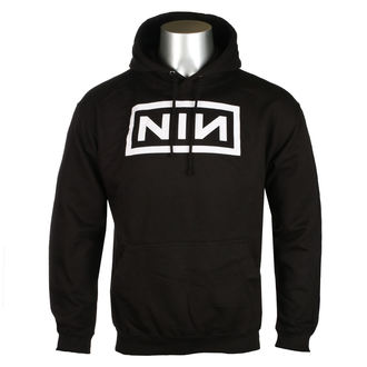 felpa con capuccio uomo Nine Inch Nails - CLASSIC WHITE LOGO - PLASTIC HEAD, PLASTIC HEAD, Nine Inch Nails