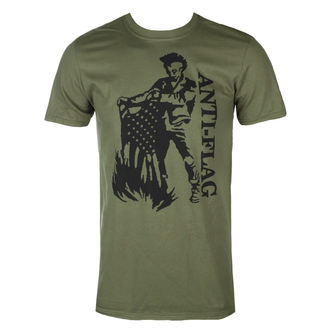 t-shirt metal uomo Anti-Flag - Flag Burner Green - KINGS ROAD, KINGS ROAD, Anti-Flag