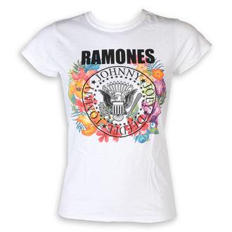 t-shirt metal donna Ramones - Circle Flowers - ROCK OFF, ROCK OFF, Ramones