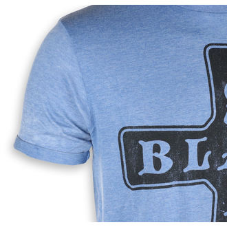 t-shirt metal uomo Black Sabbath - Burnout Mid Blue - ROCK OFF, ROCK OFF, Black Sabbath