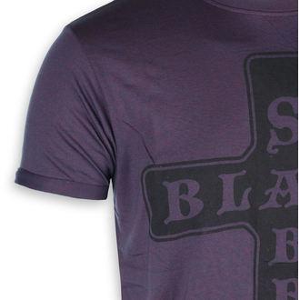 t-shirt metal uomo Black Sabbath - Burnout Navy/Red - ROCK OFF, ROCK OFF, Black Sabbath