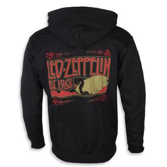 felpa con capuccio uomo Led Zeppelin - Zeppelin & Smoke Black - NNM, NNM, Led Zeppelin