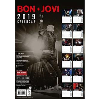 Calendario per anno 2019 BON JOVI, NNM, Bon Jovi