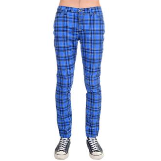 pantaloni (unisex) 3RDAND56th - Tartan Skinny Jeans - Blu / Tartan, 3RDAND56th