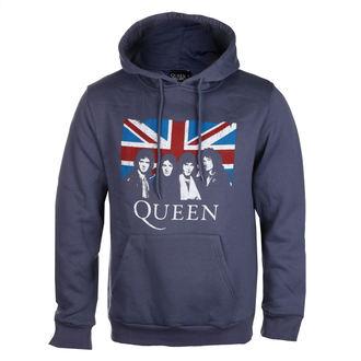 felpa con capuccio uomo Queen - Vintage Union Jack - ROCK OFF, ROCK OFF, Queen