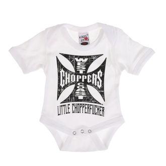 body WEST COAST CHOPPERS - ONESIE LITTLE CHOPPERFUCKER BABY CREEPER - bianca, West Coast Choppers